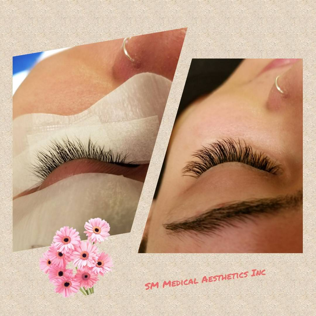Eyelash extensions Toronto before after